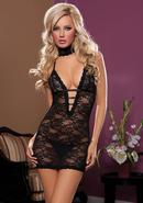 Midnight Affair 3pc Chemise - Black - Os