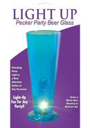 Party Pecker Light Up Party Beer Glass Blue