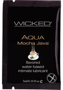 Wicked Aqua Flavored Water Based Foil Packs Mocha Java .10...